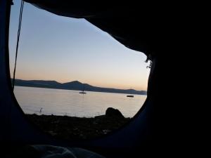 camping at Lago di Bracciano - Rome, Italy