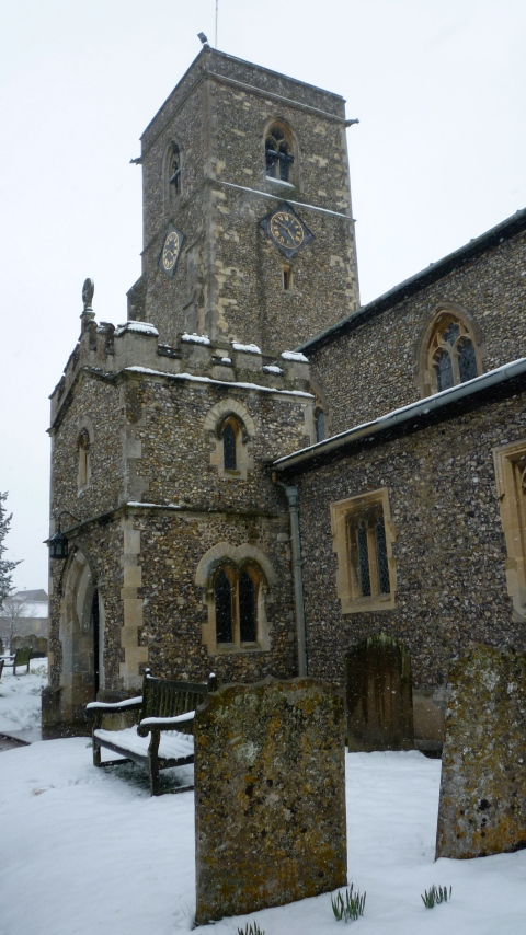 The ancient church at Aldbury