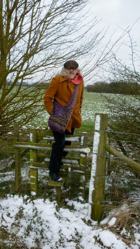 Walking on English public footpaths.