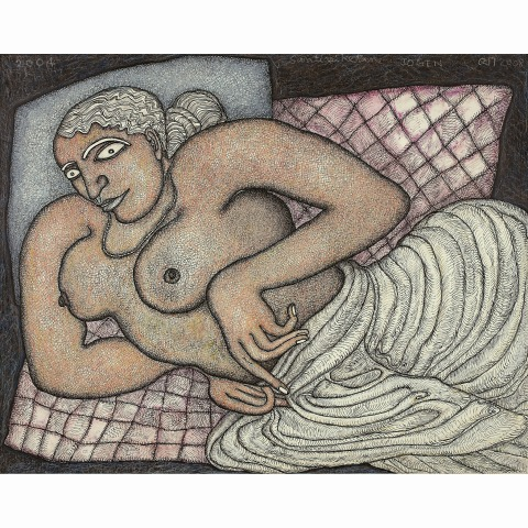 Jogen Chowdhury - 'Woman in Bed'