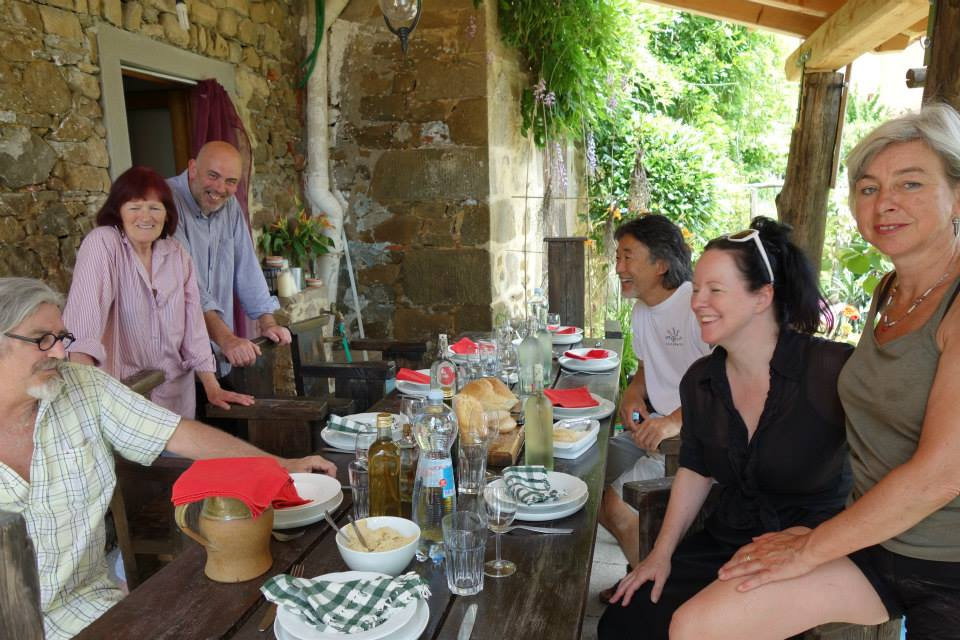 lunch at Maureen and Kevan Halson's La Balconata