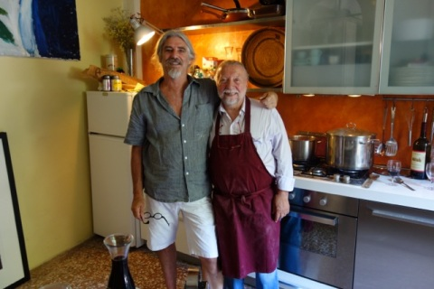 Michael and Candido in our kitchen