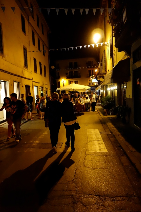 The streets of Ponte a Serraglio during the Art Festival