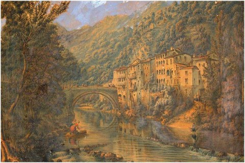 An old painting of Ponte a Serraglio