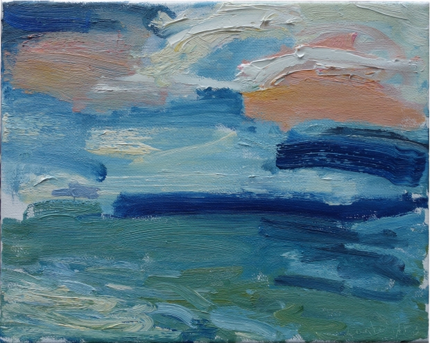 Michael Cartwright - study from Cill Rialaig. oil on canvas