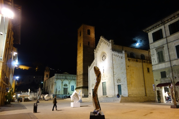 In the piazza of Pietrasanta