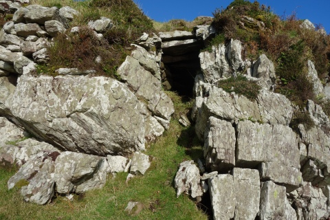 tomb or ancient doorway to ring fort