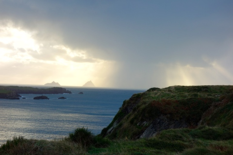 The Skelligs Michael as seen from Valencia Island